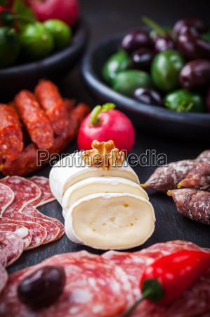 cheese and antipasti