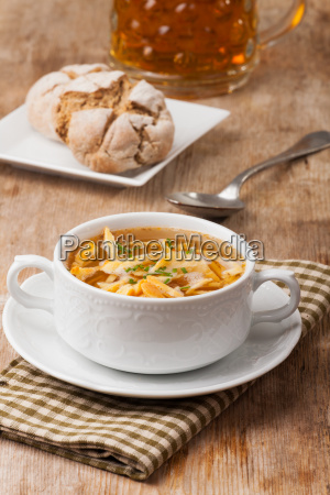 bavarian frittata soup in a soup