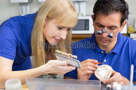 dental technician in the dental laboratory