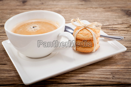 hot black coffee with homemade pastries