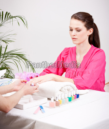 nail salons young woman in nail