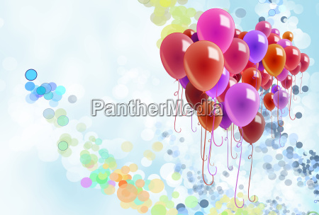balloons confetti space