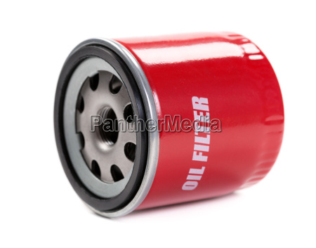 new oil filter car in red