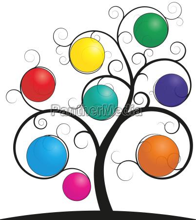 color spheres tree