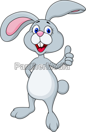 funny bunny with thumb up
