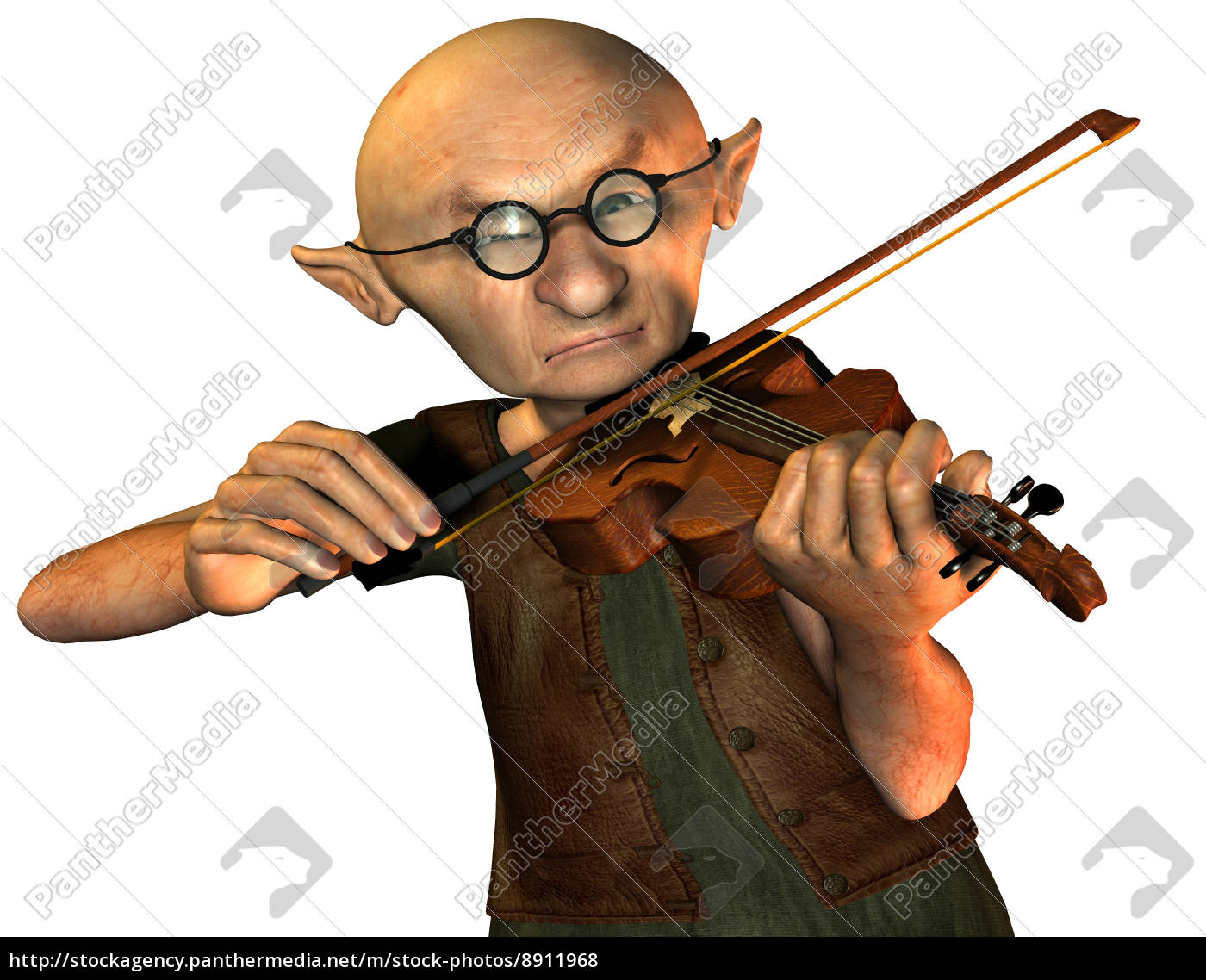 Royalty free photo 8911968 - old man with violin