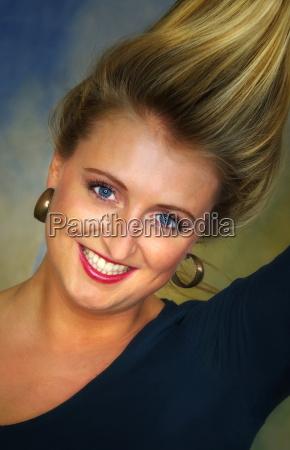 beautiful woman in portrait