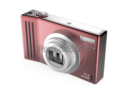 red digital photo camera