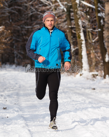 jogger in winter