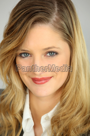 portrait of an attractive blonde businesswoman