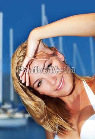 woman enjoying sailing trip