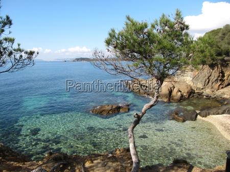 coast path bormes les mimosas france