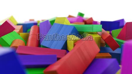 building blocks made of wood