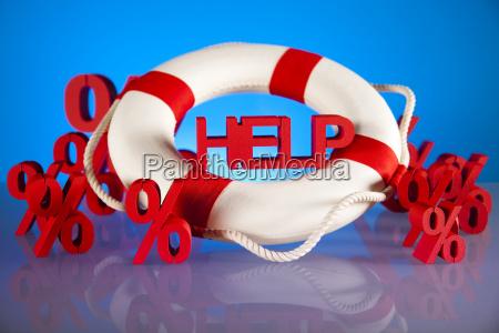 help crisis concept