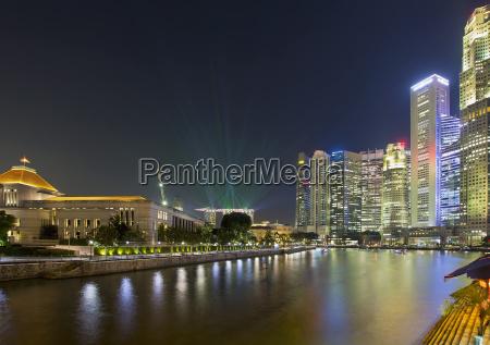 singapore nightline by boat quay