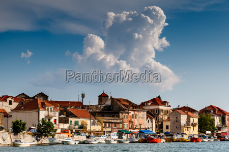 medieval city of omis on the