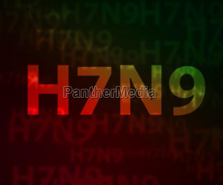 h7n9 avian flu bokeh background