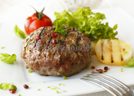 delicious grilled beef meatball