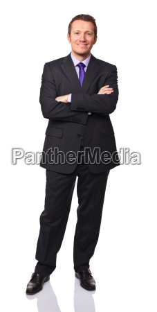 business man on white