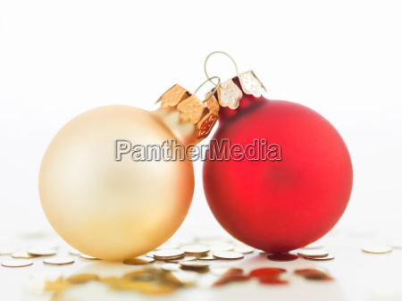 colorful christmas globes joined together