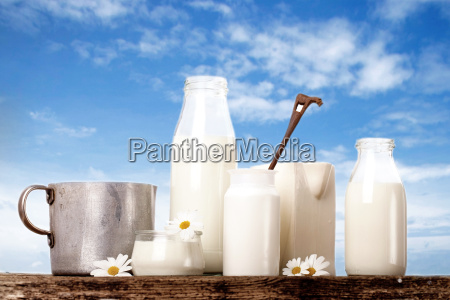 lactose free milk products against blue
