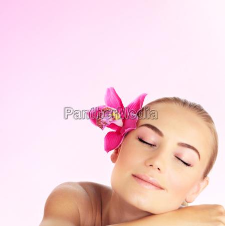 young woman at spa salon