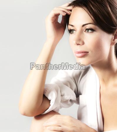 sensual closeup portrait of beautiful young