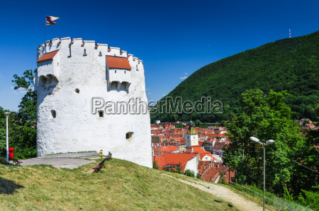 white tower of brasov fortifications transylvania