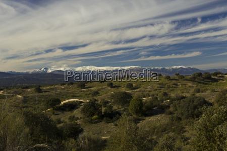 snowy madrid mountain range