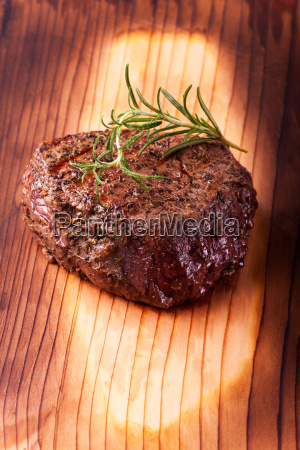 grilled steak with rosemary