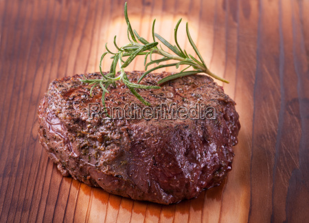 steak grilled with rosemary
