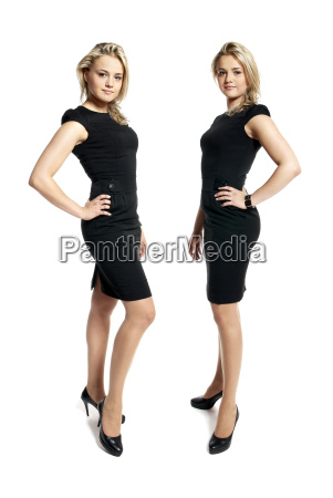 two attractive young women in a