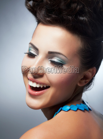 bliss enjoyment cheerful womans face with