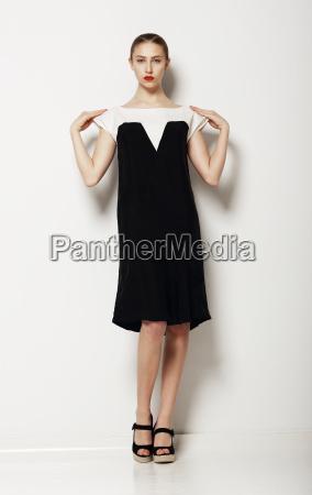 minimalism stylish woman fashion model in