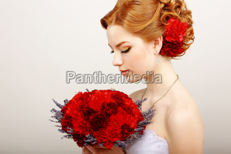 mildness profile of calm woman with