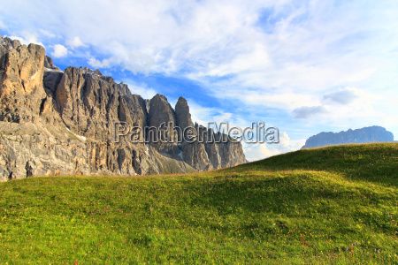 mountains dolomites alps alp rock clouds