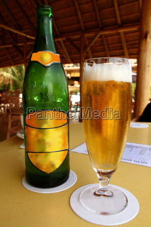beer in a tropical place