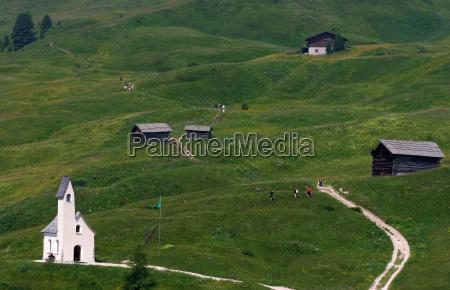 church, dolomites, alps, alp, chapel, high mountains - 9124116