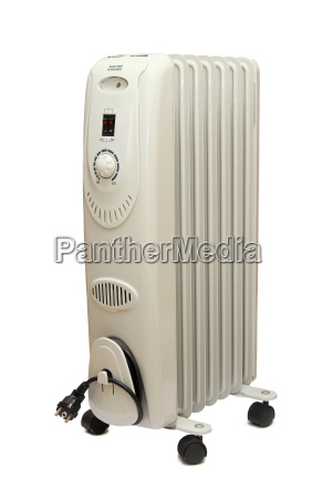oilly electric heater isolated on white
