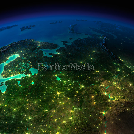 night earth the european part of