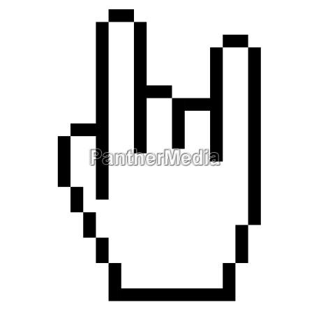 pixelgrafik hand rock