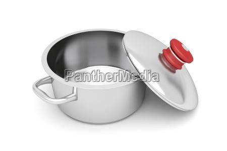 empty cooking pot