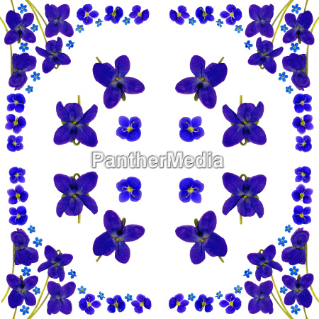 napkin with blue flowers