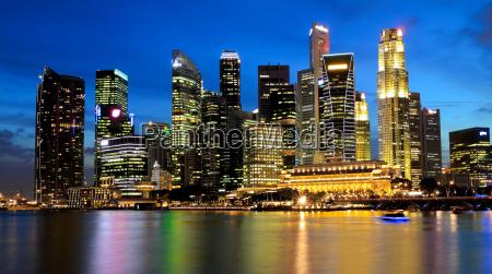 singapore marina bay business district at