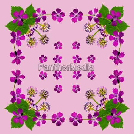napkin with purple flowers