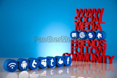 communication internet concept social media icons