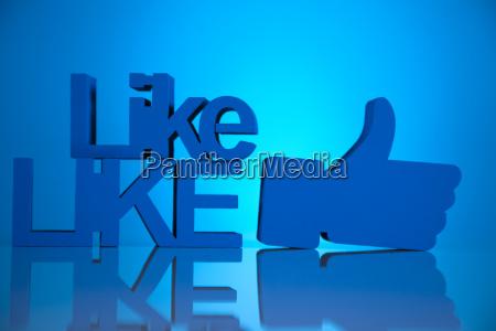 thumbs up symbol social media