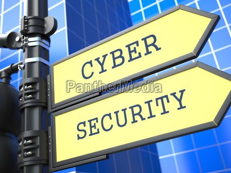 business concept cyber security sign