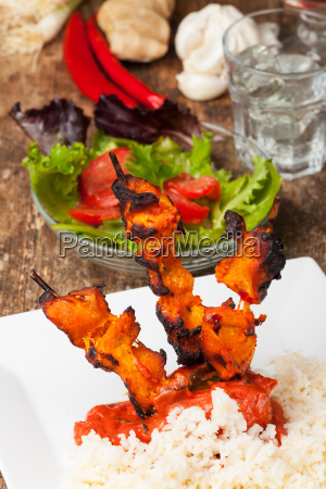indian tandoori grill skewers