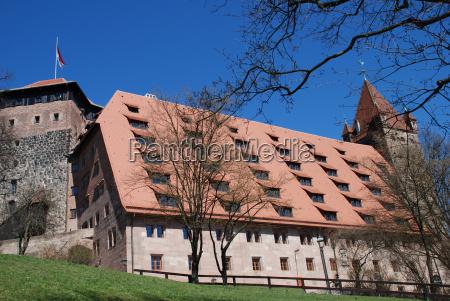 nuremberg, castle, kaiserstallung, fünfeckturm, luginsland, youth - 9211390